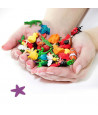 Figurine mini mini étoile de mer violette 25 mm