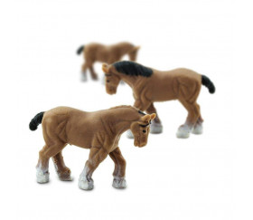 Mini mini mini figurine cheval marron 20 x 28 x  6 mm