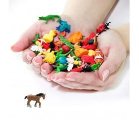 Mini mini mini figurine cheval marron 20 x 28 x  6 mm