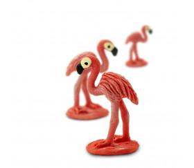 Figurine mini mini flamant rose 20 x 14 x 15 mm