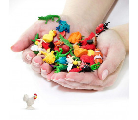 Figurine mini mini coq 20 x 10 x 19 mm