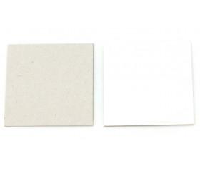 24 cartes 4 x 4 cm rigide CARRE blanc/gris vierge à personnaliser mémo