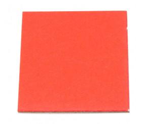 24 carrés 4 x 4 cm carton rigide rouge/blanc vierge tuiles à personnaliser