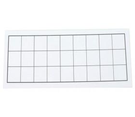 Carton tuile rectangle à personnaliser 16.5 x 8.5 cm