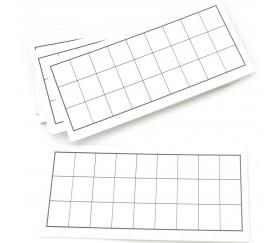 Carton tableau blanc à personnaliser 16.5 x 8.5 cm