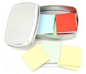 Exemple carrés 4 x 4 cm carton rigide coloré vierge tuiles à personnaliser