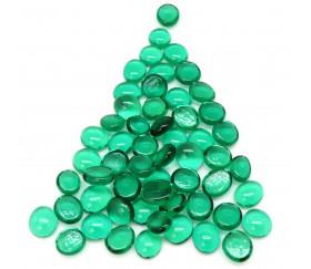 Tube 40 galets vert translucide pierre de vie 12 x 7 mm gems