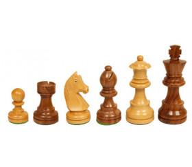 Pièces échecs 5 bois - buis-palissandre marron, taille 5