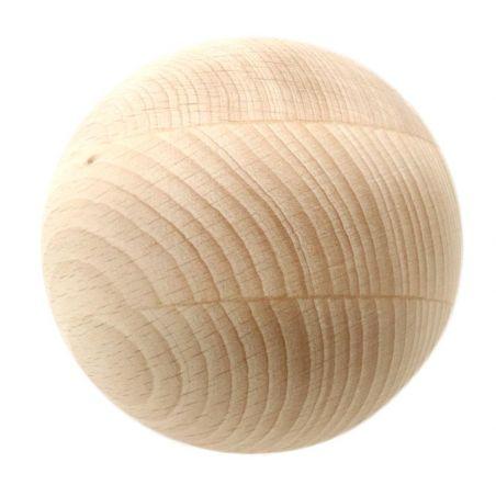 Boule 9 cm diamètre hêtre. Grosse boule bois