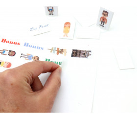 65 autocollantes blancs 38.1 x 21.2 mm étiquettes