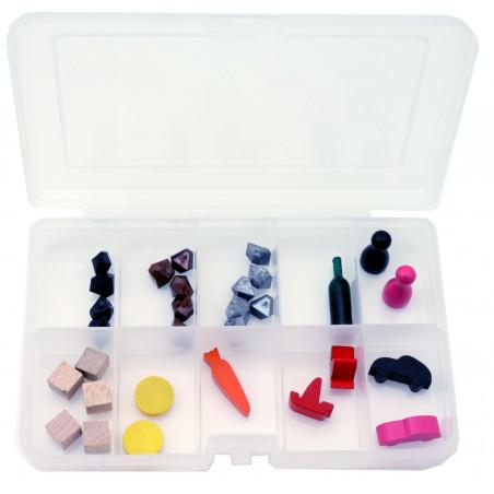 Boite PM 10 compartiments de 16.5 x 11.2 x 3.1 mm en plastique
