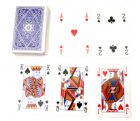 Jeu de 54 cartes à jouer classiques internationales