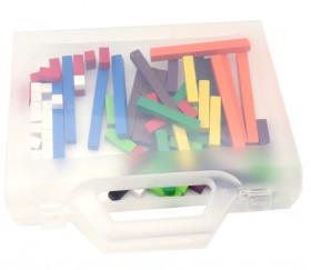 Valisette 24 x 18 x 4.6 cm plastique transparent avec poignée vide