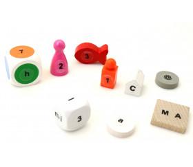 128 Lettres alphabet chiffres autocollant 9 mm - étiquettes transparentes