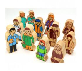 Médecin en bois 100 x 40 x 25 mm personnage jeu