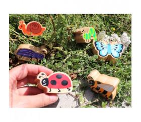Papillon en bois 54 x 70 x 25 mm