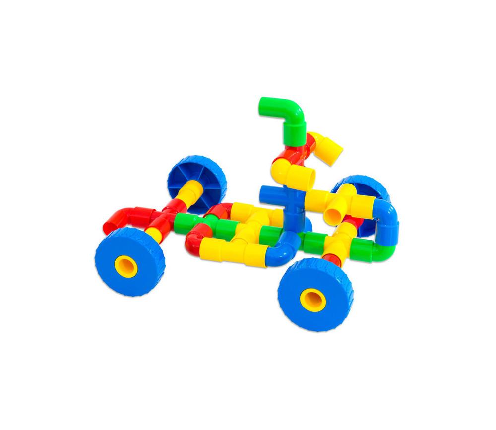 Jeu de construction véhicules en tubes emboîtables 64 pièces