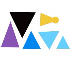 50 symboles de discours magnétiques Montessori grammaire