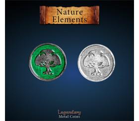 12 pièces métal Nature element Legendary