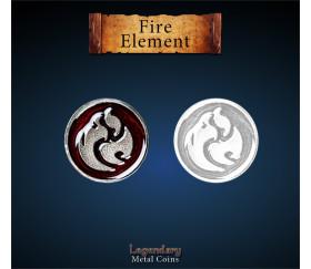 12 pièces métal Fire element Legendary