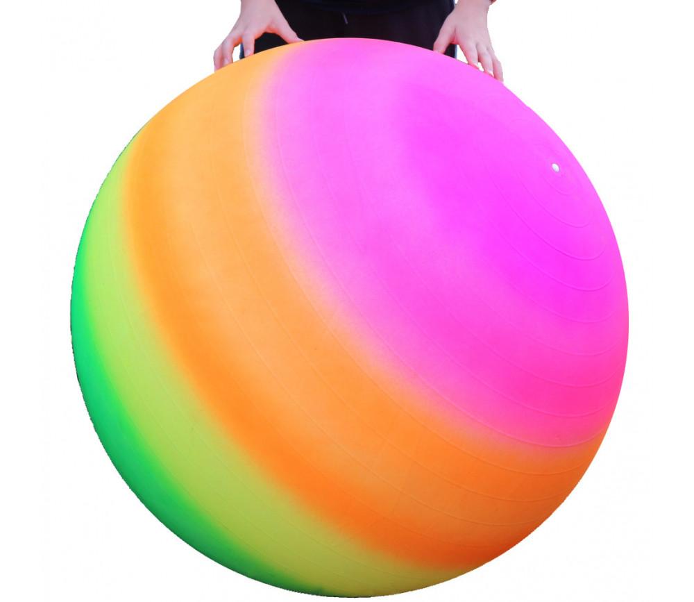 Ballon géant 100 cm gym arc-en-ciel et flexible