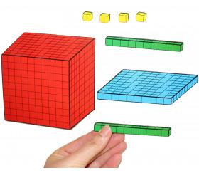 Base 10 - 54 pièces magnétiques centaines, dizaines et unités