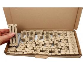 Tour des nombres - bois recyclé 34 pièces