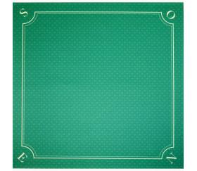 Tapis jeu 60 x 60 cm vert motif mini atouts Nord-Sud Tarot