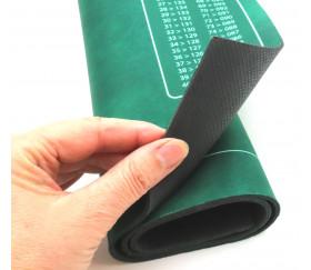 Tapis jeu Belote vert avec grille points 4 joueurs - 40 x 60 cm