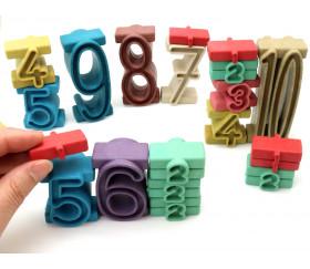 Tour des nombres Couleurs Montessori- bois recyclé 34 pièces