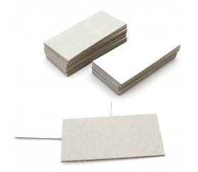 24 tuiles dominos 75 x 37 mm carton rigide blanc/gris vierge tuiles à personnaliser