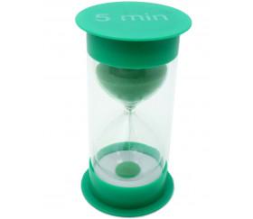 Grand sablier 5 minutes - 12 cm de haut super lisible VERT