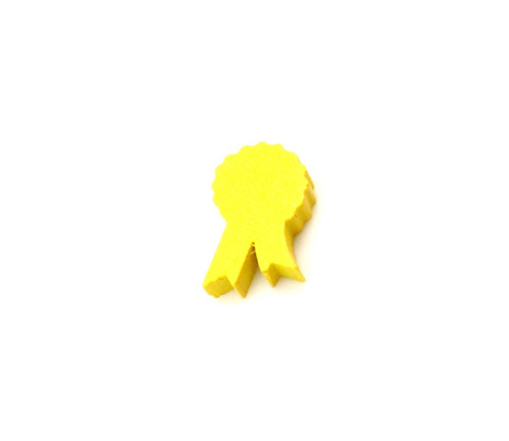 Pion médaille en bois jaune 22 x 14 X 5 mm