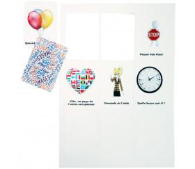 9 cartes à jouer blanches à imprimer 60 x 86 mm sur feuille prédécoupée