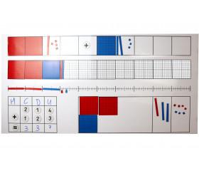 Tableau matériel magnétique pour Math 125 pièces