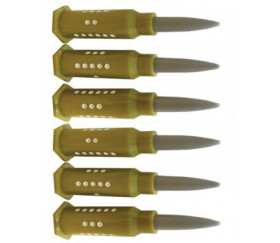 6 Dés Spéciaux forme munition 1 à 6 bullet