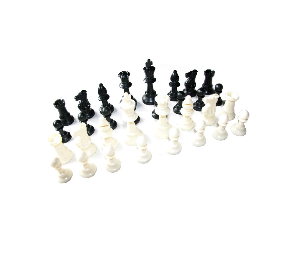 32 Pièces échecs plastique 77 mm taille T3 pour jeu