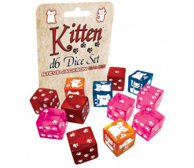 12 Dés Kitten Chats 15 mm