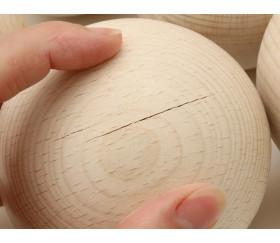 boule en bois 9 cm avec défaut