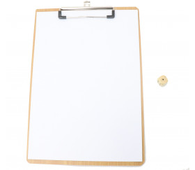 Porte bloc A4 - écritoire à pince bois (support pour noter)