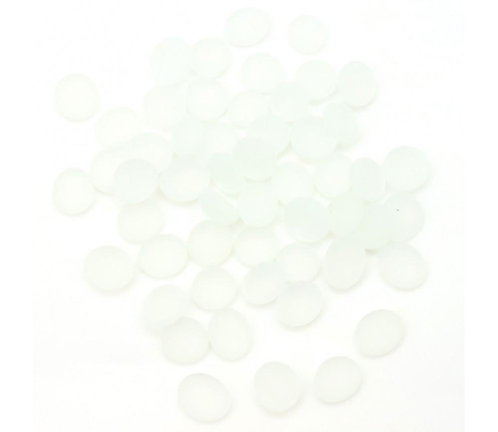 Tube 40 galets blanc givré pierre de vie 12 x 7 mm