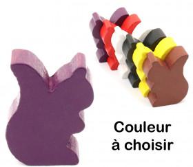 Pion écureuil en bois coloré pour jeu de 25 x 19 x 8 mm à l'unité