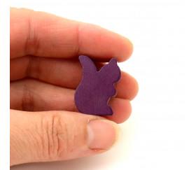 Petit écureuil en bois pion jeu de société violet