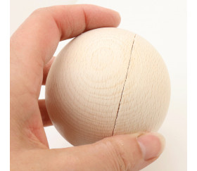 Exemple de défaut  sur boule 7 cm en bois