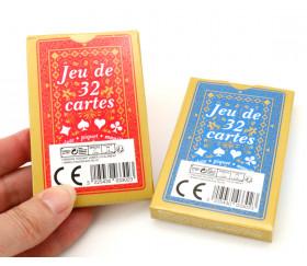 Jeu 32 cartes Belote figure francaise standard pas cher