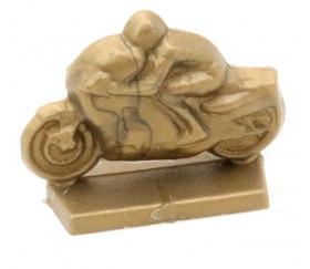 Pion moto doré pour jeux et déco plastique 24 x 12 x 18 mm à l'unité