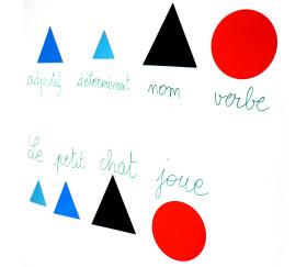 Grammaire 2 Montessori 50 symboles magnétiques (10 formes)