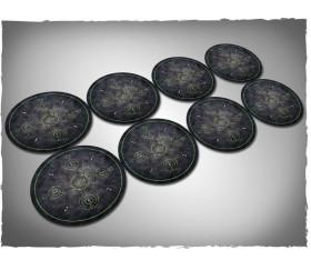 8 dalles rondes diamètre 19 cm - marqueur objectif cible jeu miniature WH40K