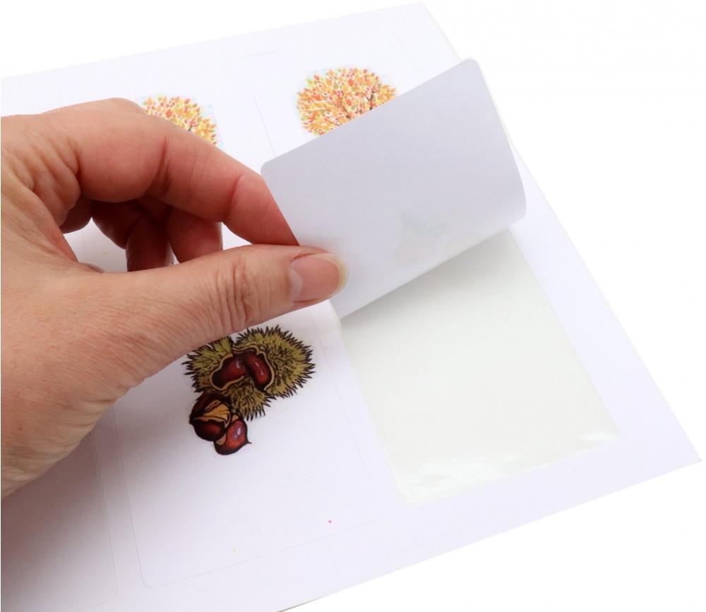 Feuille A4 avec 4 cartes à jouer blanches à imprimer 59 x 91 mm sur feuille prédécoupée