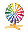 Roue pour jeux : fortune, chiffres, lettres 30 cm